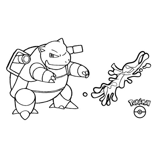 blastoise pokemon kawaii para colorear online