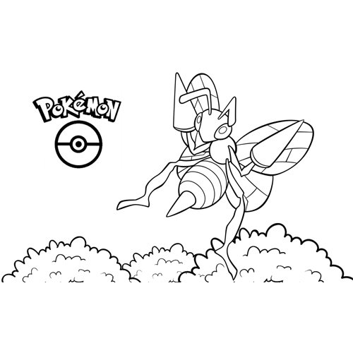 kawaii pokemon beedrill para colorear y descargar