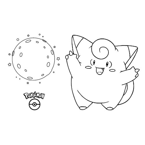 lindo Clefairy kawaii pokemon para colorear online