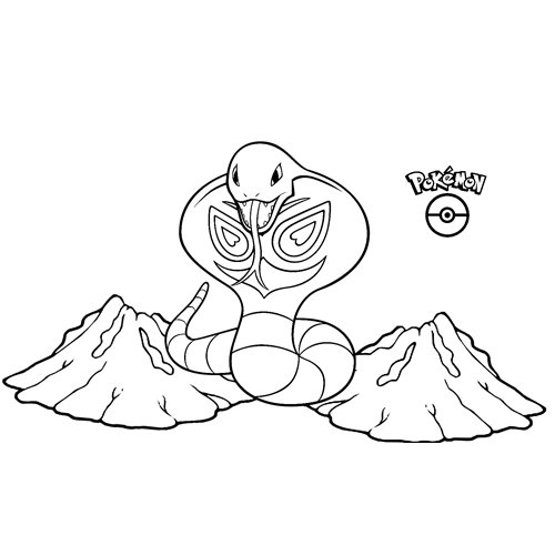 arbok kawaii para colorear online y descargar