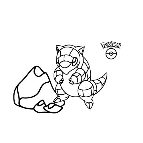 kawaii Sandshrew pokemon para colorear