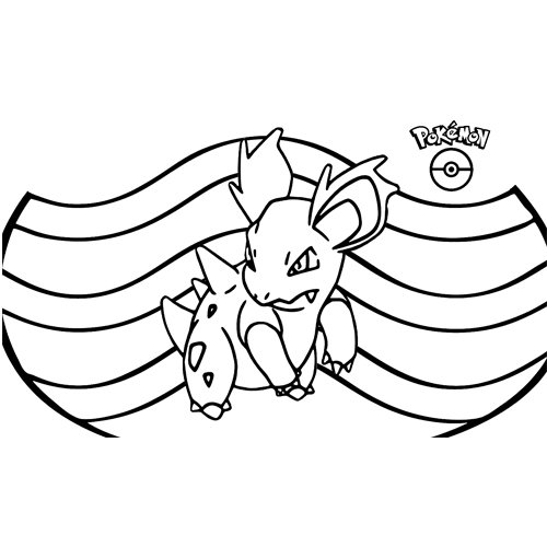 pokemon kawaii nidorina para colorear