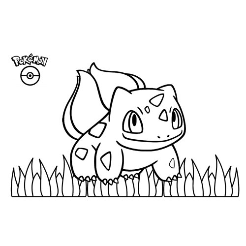 kawaii bulbasaur pokemon para colorear y descagar