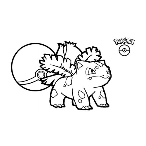 kawaii ivysaur pokemon para colorear y descarg