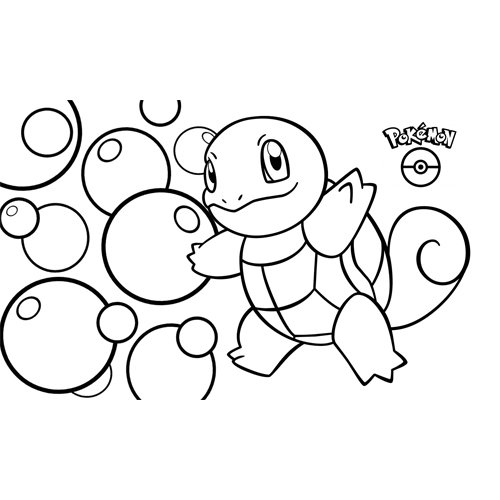 kawaii squirtle pokemon para colorear y descargar