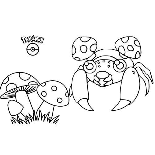 paras kawaii pokemon para colorear y decargar