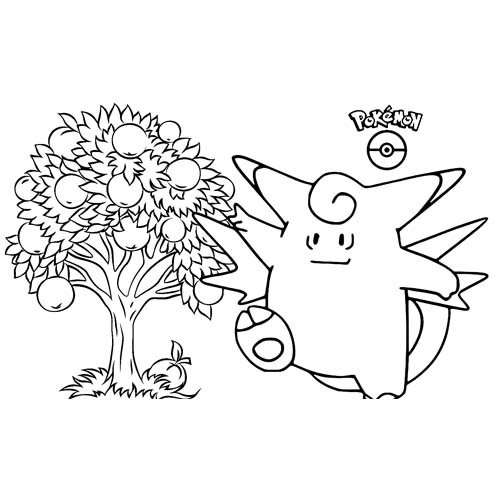 divertido wigglytuff kawaii para colorear online