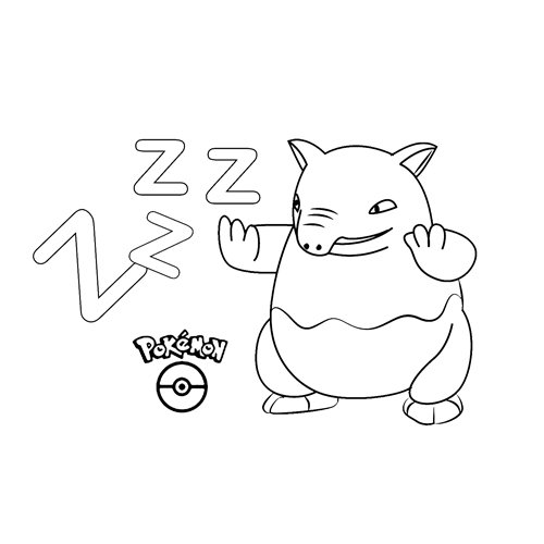 adorable drowzee kawaii para colorear online