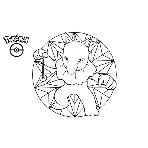 kawaii hypno pokemon para colorear