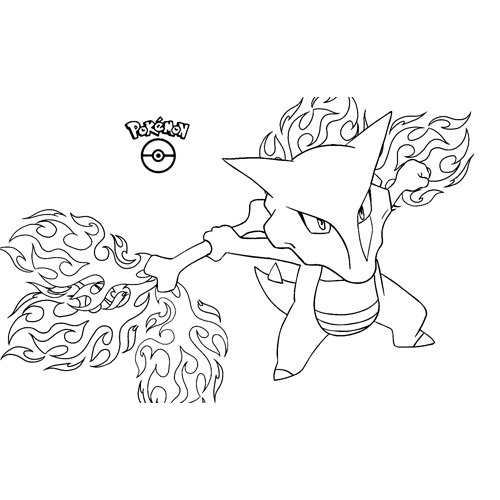 fuerte marowak kawaii pokemon para colorear online