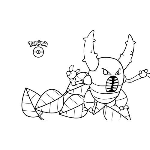 kawaii pinsir pokemon para colorear online