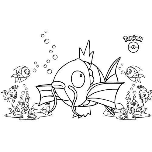divertido magikarp kawaii pokemon para colorear