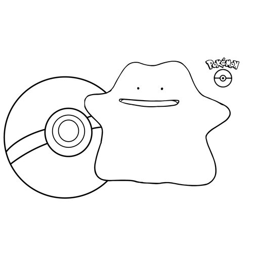 lindo ditto kawaii pokemon para colorear online
