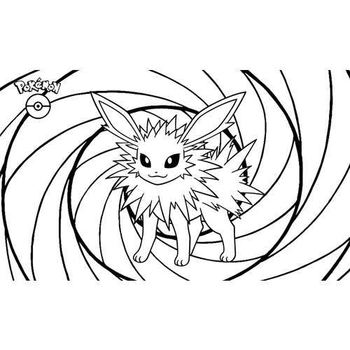 kawaii jolteon pokemon para colorear online