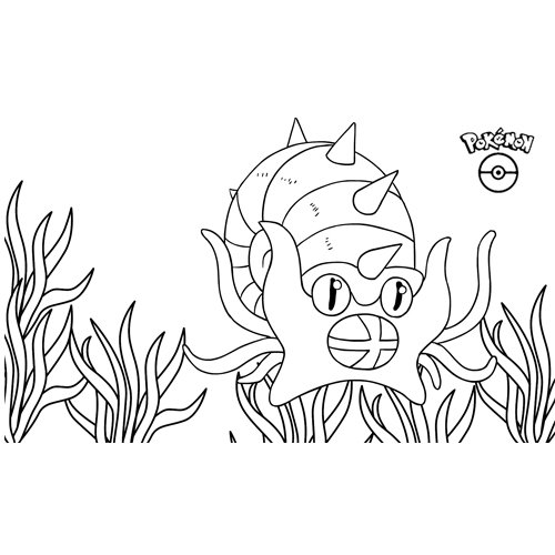 kawaii omastar pokemon para colorear online