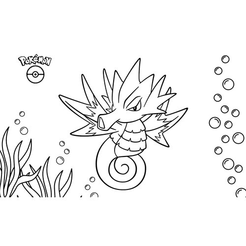 kawaii seadra pokemon para colorear