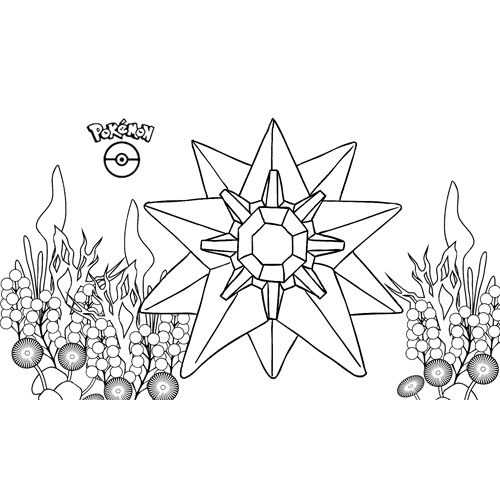 kawaii starmie pokemon para colorear